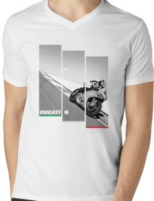 Ducati Corse Mens V-Neck T-Shirt