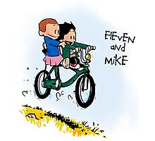 Eleven and Mike Photographic Print