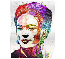 Frida Kahlo Grunge Poster