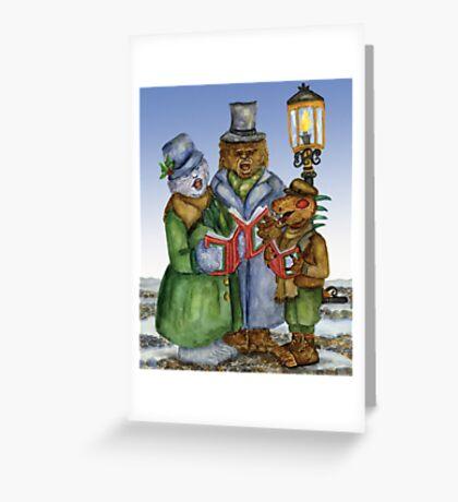 Caroling Cryptids Greeting Card