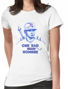 Javier Baez: One Bad Hombre Womens Fitted T-Shirt
