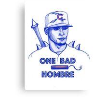 Javier Baez: One Bad Hombre Canvas Print
