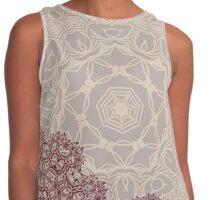 Autumnal abstract lace arabesque mandala ornament Contrast Tank