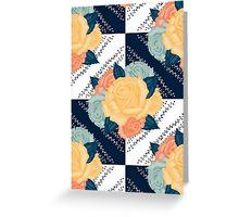 Tiled roses Greeting Card