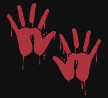 Bloody Hand Prints by shirtual