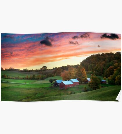 Jenne Farm in Autumn Poster