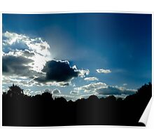 sunny clouds Poster