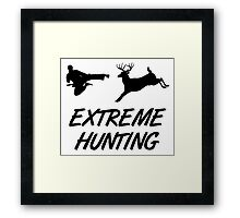 Extreme Hunting Karate Kick Deer Framed Print