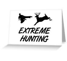 Extreme Hunting Karate Kick Deer Greeting Card