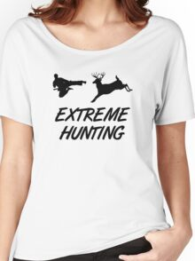 Extreme Hunting Karate Kick Deer Women's Relaxed Fit T-Shirt