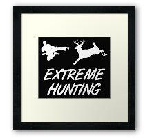 Extreme Hunting Karate Kick Deer Framed Print