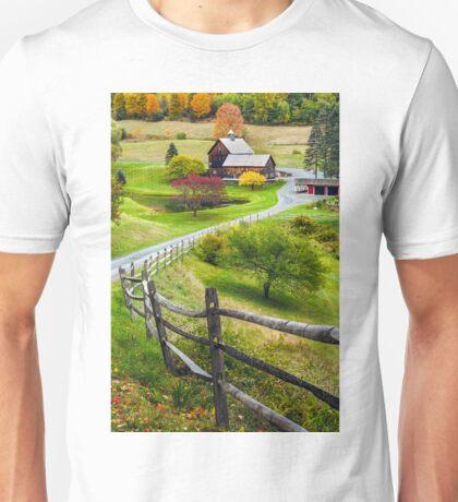 Sleepy Hollow Farm in Autumn Unisex T-Shirt