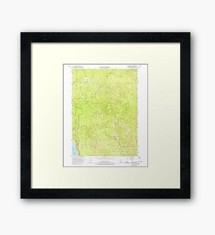 USGS TOPO Map California CA Childs Hill 289186 1966 24000 geo Framed Print