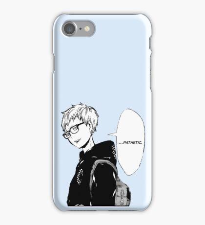 Tsukishima Kei Pathetic - Haikyuu iPhone Case/Skin