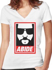 big lebowski Women's Fitted V-Neck T-Shirt