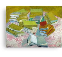 Vincent Van Gogh - Pile of French Novels, Book lovers! Canvas Print