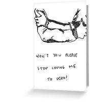 5 Seconds Of Summer Voodoo Doll lyrics Greeting Card