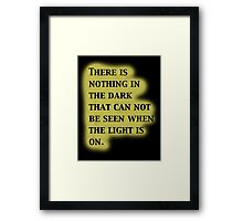 Twilight Zone Quote Framed Print