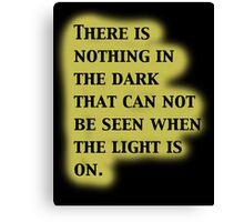 Twilight Zone Quote Canvas Print