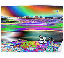 Water and Rainbow, by Ana Canas Poster