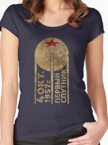 CCCP Sputnik 1 First Satellite Women's Fitted Scoop T-Shirt