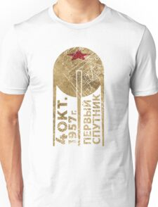 CCCP Sputnik 1 First Satellite Unisex T-Shirt