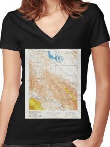 USGS TOPO Map California CA Caliente Mountain 296968 1952 62500 geo Women's Fitted V-Neck T-Shirt