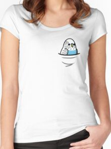 Too Many Birds! - Blue Budgie Women's Fitted Scoop T-Shirt