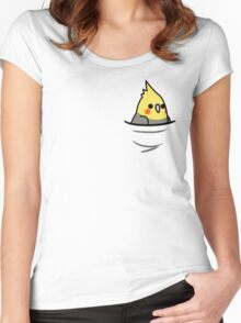 Too Many Birds! - Yellow Cockatiel Women's Fitted Scoop T-Shirt