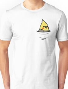 Too Many Birds! - Yellow Cockatiel Unisex T-Shirt
