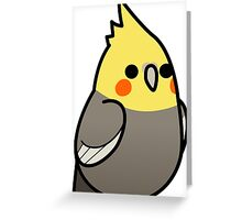 Too Many Birds! - Yellow Cockatiel Greeting Card
