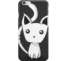 Adorable kitten on dotted background iPhone Case/Skin