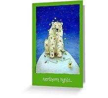 northern lights... Greeting Card