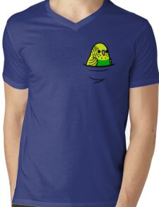 Too Many Birds! - Yellow n' Green Budgie Mens V-Neck T-Shirt
