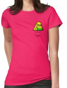 Too Many Birds! - Yellow n' Green Budgie Womens Fitted T-Shirt