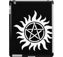 Anti-Possession Tattoo Symbol White Version - Supernatural Inspired iPad Case/Skin