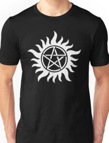 Anti-Possession Tattoo Symbol White Version - Supernatural Inspired Unisex T-Shirt