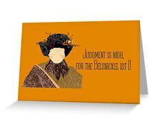 Belsnickel Greeting Card