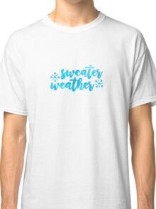 sweater weather /blue watercolor/ Classic T-Shirt
