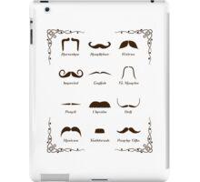 Mustache Style Identification Chart iPad Case/Skin