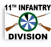11th Infantry Division - Crossed Rifles Canvas Print