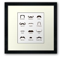 Mustache Style Identification Chart Framed Print