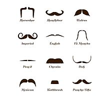 Mustache Style Identification Chart Photographic Print