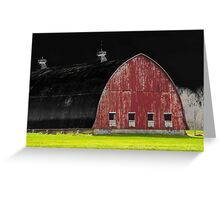 Barn with Black Sky Greeting Card