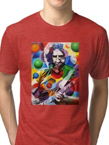 Jerry Garcia -  Colorful Tri-blend T-Shirt