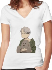 Yuri!!! on Ice Women's Fitted V-Neck T-Shirt