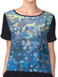 Beneath- Dotted Image Series Chiffon Top