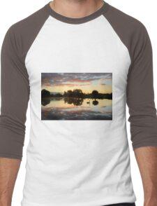 Landscape with a Swan Men's Baseball ¾ T-Shirt