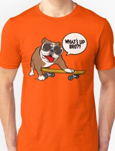 Cool english bulldog on board T-Shirt