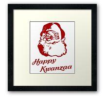 Happy Kwanzaa Christmas Santa Claus Framed Print